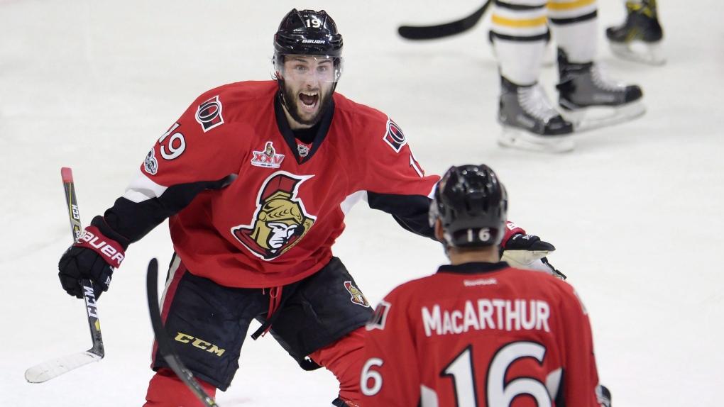 Ottawa Senators centre Derick Brassard