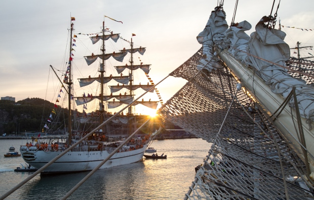 Tall ships in Quebec City