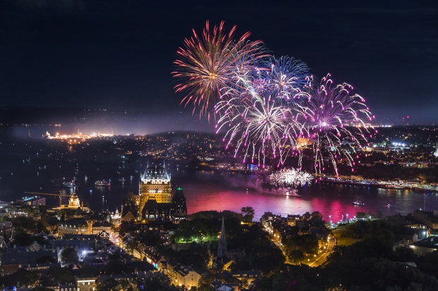 Fireworks over Quebec City