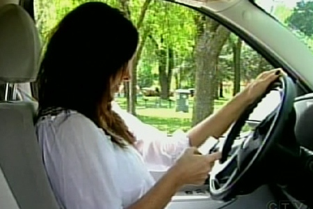 In Quebec, texting behind the wheel-- like talking on a cell phone-- has been illegal since April 1, 2008. (Mar. 30, 2009)