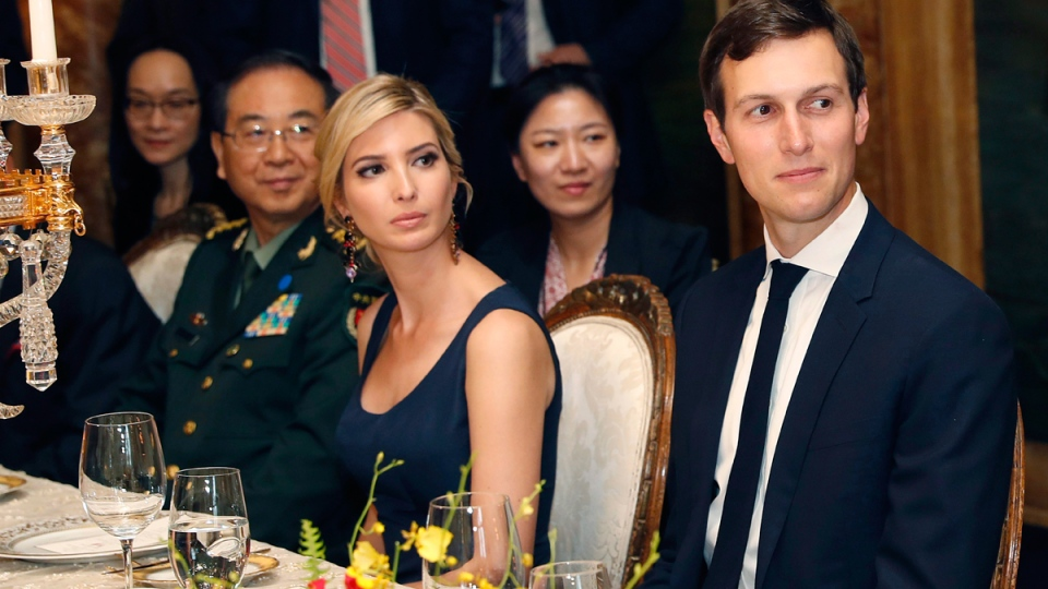 Ivanka Trump, second from right, during a dinner with U.S. President Donald Trump and Chinese President Xi Jinping, at Mar-a-Lago, in Palm Beach, Fla., on April 6, 2017. (Alex Brandon / AP)