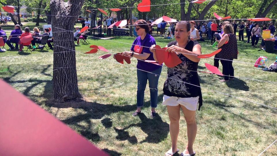 Hearts in the Park in Victoria Park on May 31. (JAMIE FISCHER/CTV REGINA)