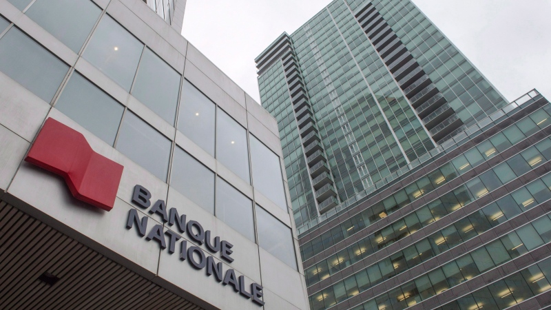 The head office of the National Bank is seen Friday, April 21, 2017 in Montreal. (Ryan Remiorz/The Canadian Press)
