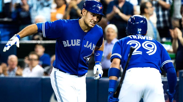Donaldson homers twice, Smoak drives in three as Blue Jays top Yankees