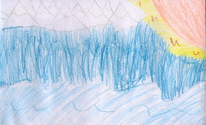 Weather art by Ryan, age 9, from St. Patrick's Elementary School.