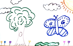 Weather art by Diego, age 10, from Clearbrook Elementary School.
