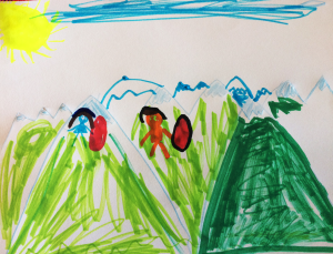 Weather art by Marisa, age 6.