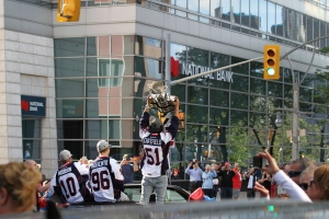 Windsor Spitfires Memorial Cup parade downtown Windsor, Ont., on Wednesday, May 31, 2017. (Melanie Borrelli / CTV Windsor)