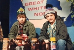 Rick Moranis, left, and Dave Thomas are shown in this undated handout photo as the characters Bob and Doug McKenzie in this scene from the SCTV comedy series. (THE CANADIAN PRESS)