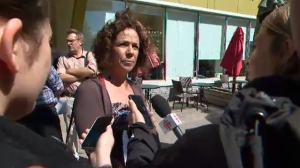 Former Gazette reporter Sue Montgomery announces she is vying for the Projet Montreal nomination to be borough mayoral candidate in CDN-NDG (June 1, 2017)