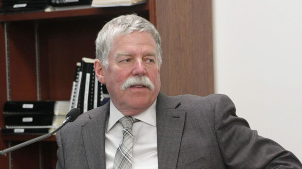 Former engineer Robert Wood pictured here during the Elliot Lake Inquiry in 2013.