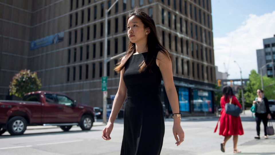 Amy Chang, the daughter of Canadian winery owners facing trial in China, is shown in Ottawa on Wednesday, May 31, 2017. (THE CANADIAN PRESS/Justin Tang)