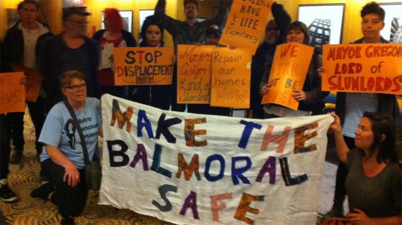 Balmoral protest