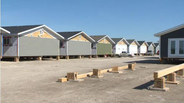 Houses under construction in Winnipeg