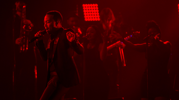 Musician John Legend gives a captivating performance to a crowd of cheering fans at Rogers Arena during his Darkness and Light World Tour. June 1, 2017. (Anil Sharma/CTV)