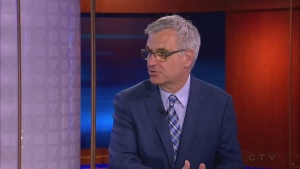 Quebec Intergovernmental Affairs Minister Jean-Marc Fournier at the CTV Montreal studio on June 2, 2017