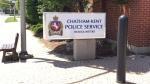 The sign outside Chatham-Kent police headquarters in Chatham, Ont. (Courtesy Chatham-Kent police)