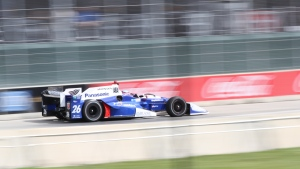 Drivers hit the track at the Detroit Grand Prix in Belle Isle, Mich., on Friday, June 2, 2017. (Melanie Borrelli / CTV Windsor)