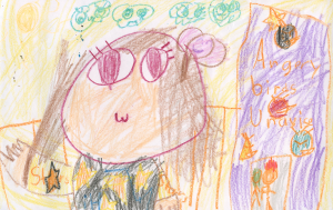Weather art by Saeppaarie, age 6.