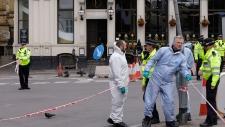 Forensic police investigate London Bridge attack