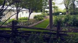 The 'jardin des origines' at Maison Saint Gabriel in Point Saint Charles (June 5, 2017)