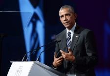 Former U.S. President Barack Obama in Montreal