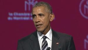 Barack Obama spoke in Montreal in 2017