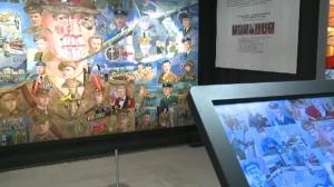 military mural