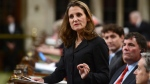 Foreign Affairs Minister Chrystia Freeland delivers a speech in the House of Commons on Canada's foreign policy in Ottawa on Tuesday, June 6, 2017. (Sean Kilpatrick / THE CANADIAN PRESS)