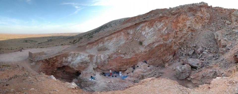 The Jebel Irhoud dig site in Morocco is shown. (MPI EVA Leipzig / Shannon McPherron)