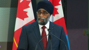 Defence Minister Harjit Sajjan announces Canada's new defence policy on June 7, 2017.