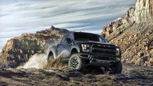 This photo provided by Ford Motor Co. shows a Ford F-150 Raptor. (Ford Motor Co. via AP)