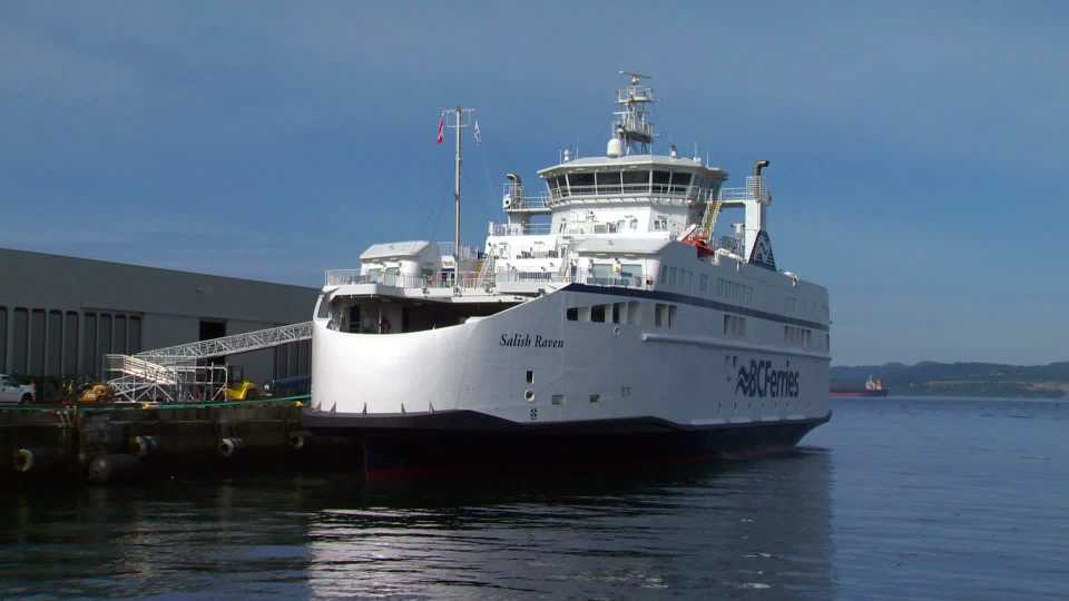 The Salish Raven entered service in August 2017 and is one of the ferry service's newest vessels. (CTV Vancouver Island)