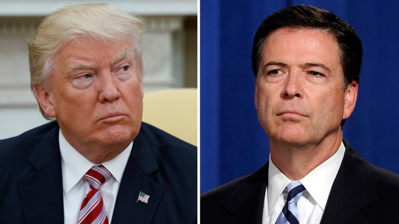 Trump accuses Comey of protecting Clinton in email investigation