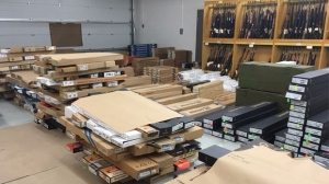 The entire inventory of K & D Implements Ltd. in Cardston was seized in 2007 due to the severity of the allegations against the gun store and the associated public safety risk.