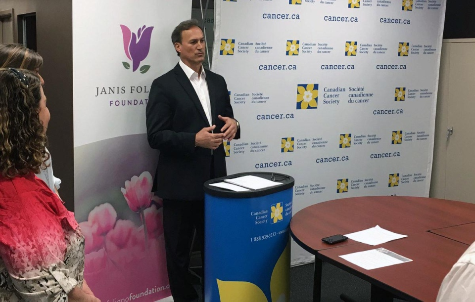 The Janis Foligno Foundation donated $75,000 to five different organizations on Thursday. (ClaudeSharma/CTVNorthernOntario)