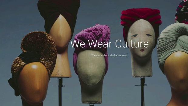 "Google project, ""We Wear Culture."""