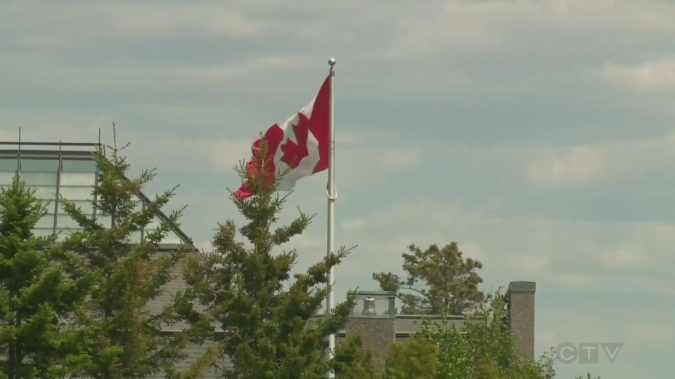 The Maple Leaf flies in La Malbaie on June 8, 2017