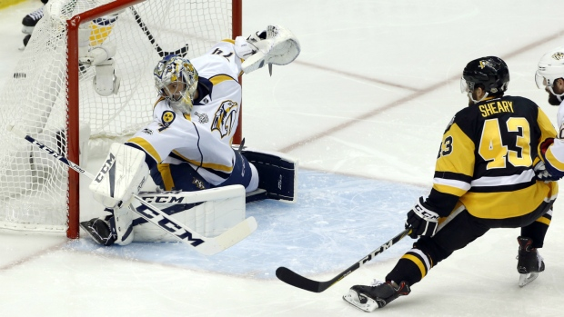 Predators freeze out Penguins to level Stanley Cup