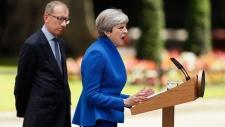Theresa May speaks at 10 Downing Street