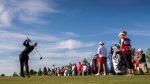 Brooke Henderson tees off on the first hole during the second round of the LPGA Classic at Whistle Bear Golf Club on Friday, June 9, 2017. (THE CANADIAN PRESS / Mark Blinch)