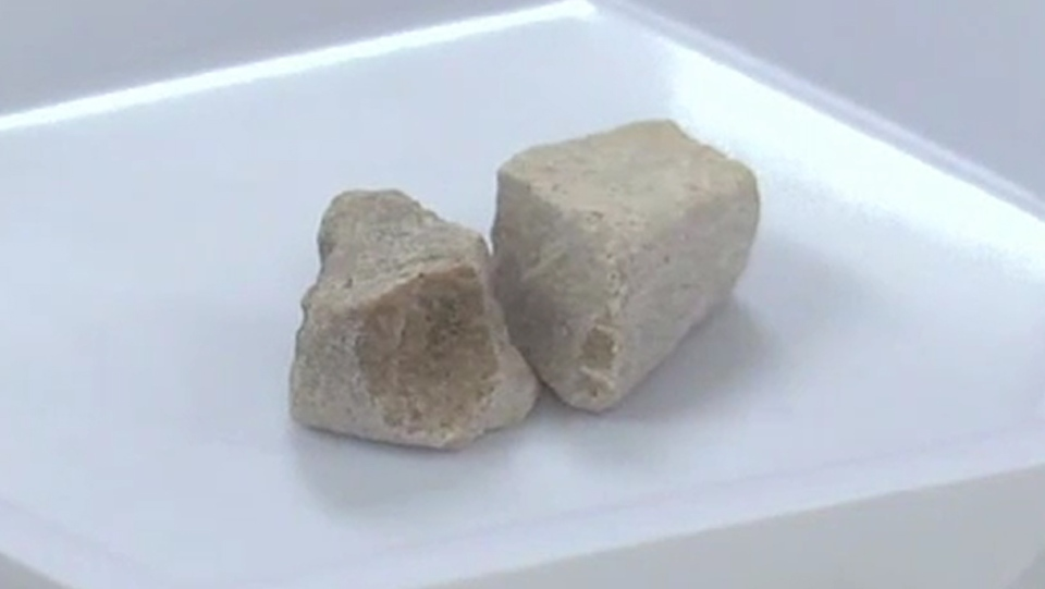 Grey death, a combination of drugs like fentanyl and cocaine with the synthetic opioid U-47700, can sometimes resemble chunky concrete.