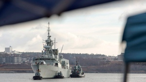 HMCS Charlottetown returns to port in Halifax in this Friday, Jan. 13, 2017 file photo. (Andrew Vaughan/The Canadian Press)
