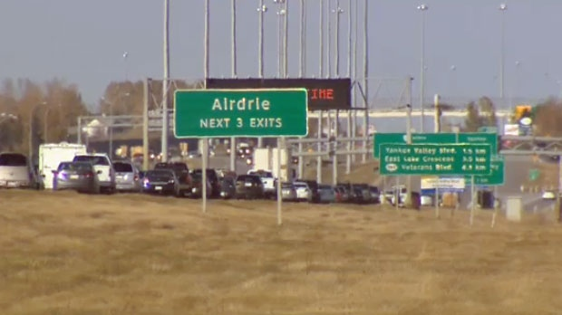 A new overpass in Airdrie over the QEII is expected to be complete by 2024 (file)