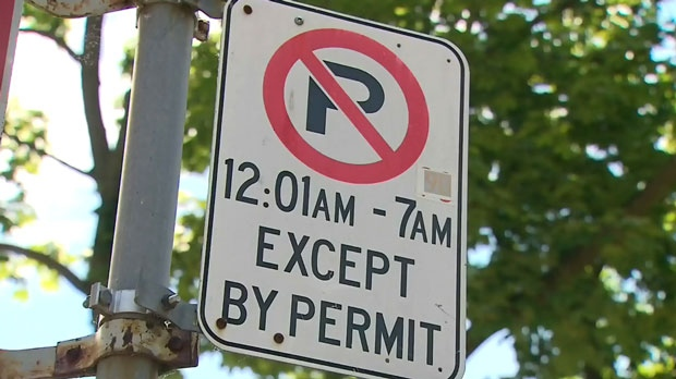 A parking sign is shown in this undated photo. (CTV News Toronto)