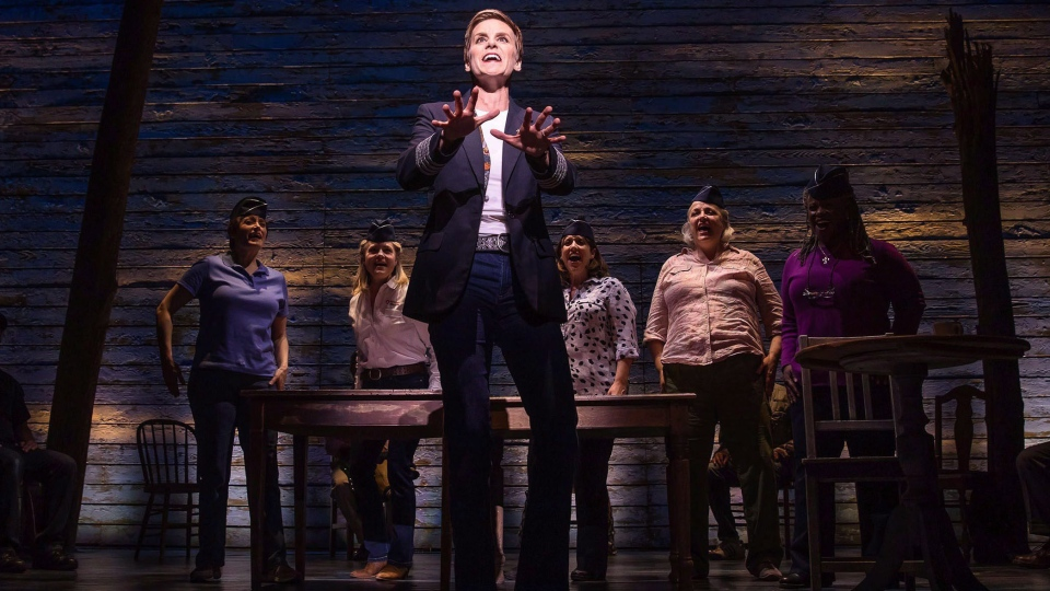 Jenn Colella and the cast from 'Come From Away' is shown in this undated handout photo.
