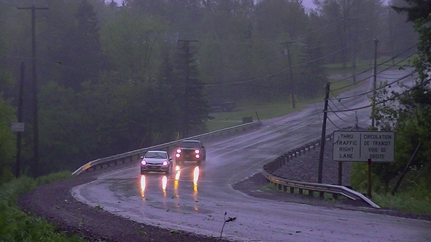 File photo of rain storm in N.B.