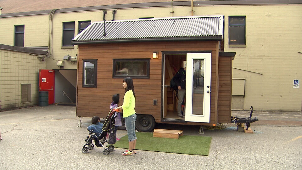 This is a tiny house. They're a genre of mobile homes that advocates say are built on principles of affordability and environmental sustainability. (CTV)