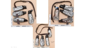 An undated handout photo issued by the Metropolitan Police, London, and made available on Sunday June 11, 2017 of fake suicide belts worn by one of the London Bridge attackers in the attacks of Saturday June 3 which killed several people and wounded dozens more. (Metropolitan Police London via AP)