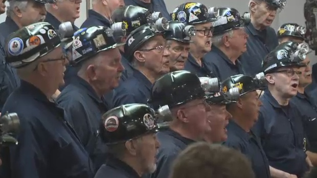 Cape Breton's iconic singing miners perform at a Davis Day ceremony in New Waterford, N.S., on Sunday, June 11, 2017.